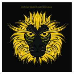 lion vector illustration tshirt design