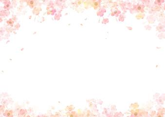 春 桜 背景 フレーム Fotoväggar