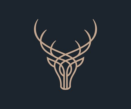 luxury dear logo icon vector