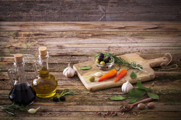 olive oil flavored with spices and other ingredients