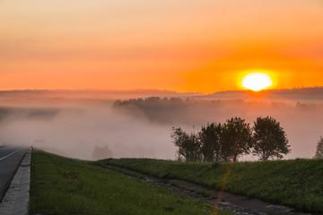 Beautiful sunrise in early morning