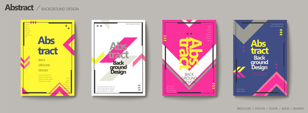 Geometric style brochure set