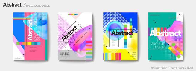 Abstract brochure set