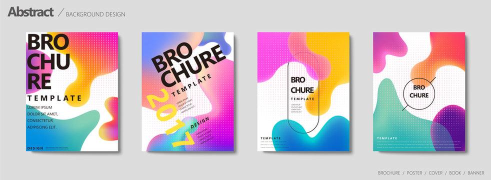 Fluid liquid shape brochure
