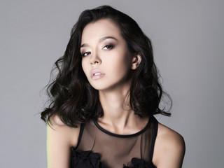 beautiful brunette young woman