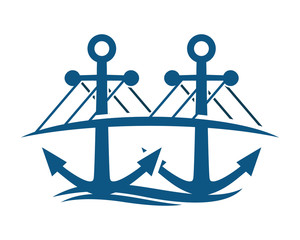 blue bridge anchor hook navy marine symbol image