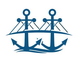 blue bridge anchor hook navy marine symbol image