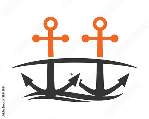Bridge Anchor Hook Navy Marine Symbol Image Stock Image And Royalty