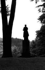 Statue of inteligent man