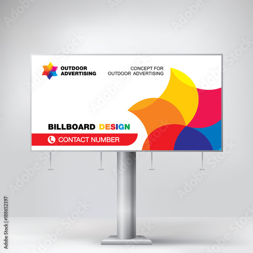billboard banner modern design for outdoor advertising template