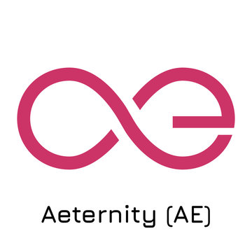 Aeternity (AE). Vector illustration crypto coin i