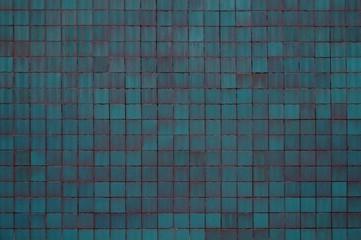 Blau türkise Hintergrund Wand mit Fliesen