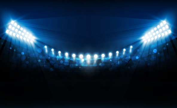 Bright stadium lights vector design. Vector illumination