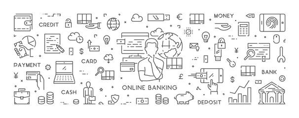 Line web banner for online banking