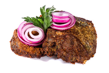 Fried liver with onions