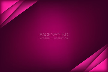 abstract vector background overlap paper layer on red dark space for text and design illustration