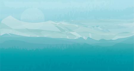 blue snow mountain landscape background vector illustration
