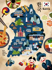 Lovely Korea travel map