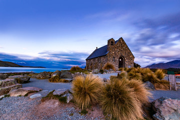 Dusk at Church Of Good Shepherd, New Zealand