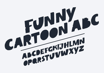 Handmade script font. Vector comic letters. Funny alphabet for decoration