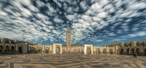 Moschee Hassan II Panorama Casablanca Marokko