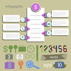 Infographics universal editable - set for information vector