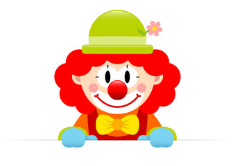 Clown Red Hair Banner