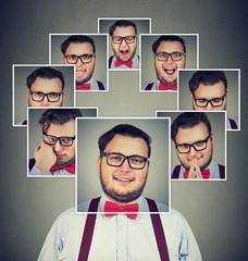 Man with split personality having mood swings