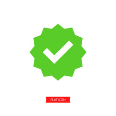 Approved Icon Vector , Succes icon symbol.