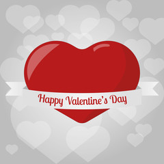 Valentine Greeting Card with Heart Pattern Background