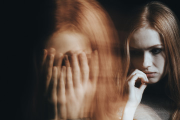 Girl with split personality disorder