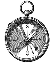 Compass - vintage engraving illustration