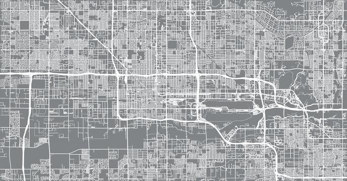 Urban vector city map of Phoenix, Arizona, USA