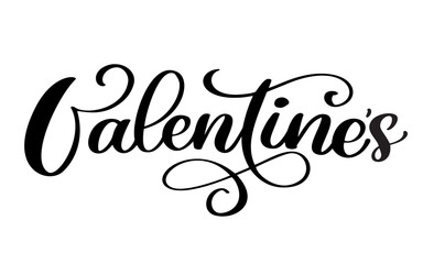 Valentines Day typography poster with handwritten calligraphy text, isolated on white background. Vector valentine Illustration