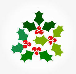 Christmas holly berry symbols