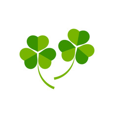 Two clover leaves icon