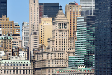 Modern Business Office and historic Buildings in Manhattan
