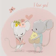 cute mouse couple