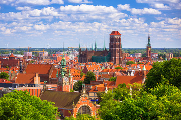 Beautiful architecture in the old town of Gdansk, Poland