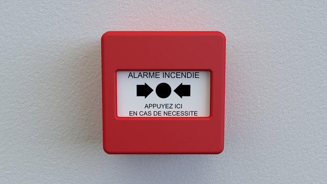 Boitier alarme incendie