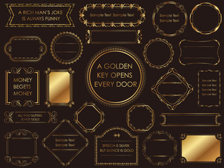 金色のビンテージフレームセット