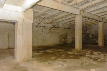 The abandoned and ruined storage room for vegetables. It was built in the times of the USSR.