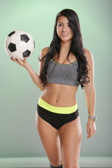 Soccer girl with ball