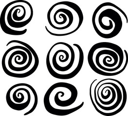 Hand Drawn Swirl Circle Vectors