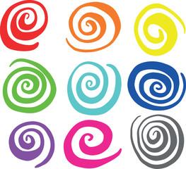 Hand Drawn Swirl Circle Vectors