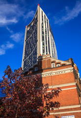 Strata SE1 building at Elephant and Castle in the London Borough of Southwark in London UK