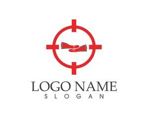 Shoes logo design template