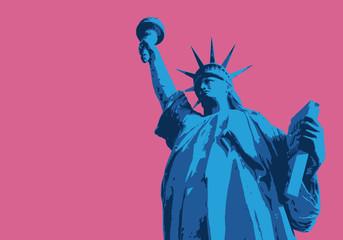 Statue de la liberté - New York - symbole, américain - décoration - déco - fond