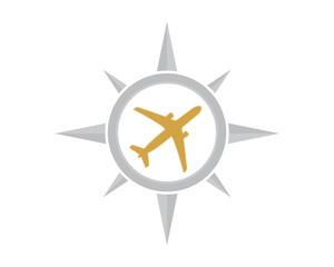 compass plane airport flight airline airway image symbol icon