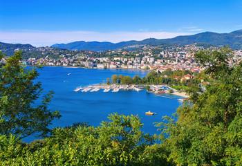 Lugano und Luganersee, Schweiz - Lugano and Lake Lugano